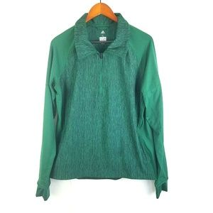 Adidas Womens XL Green Performer Baseline 1/4 Zip